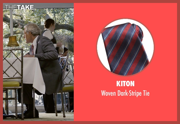 Kiton red tie from Self/Less seen with Victor Garber (Martin)