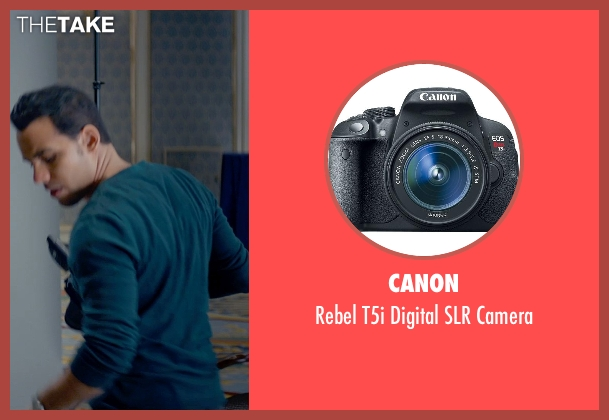 Canon camera from Fifty Shades of Grey seen with Victor Rasuk (José Rodriguez)
