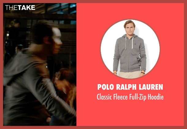 Polo Ralph Lauren gray hoodie from Fifty Shades of Grey seen with Victor Rasuk (José Rodriguez)