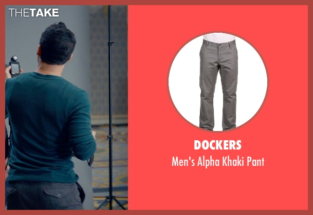 Dockers gray pant from Fifty Shades of Grey seen with Victor Rasuk (José Rodriguez)