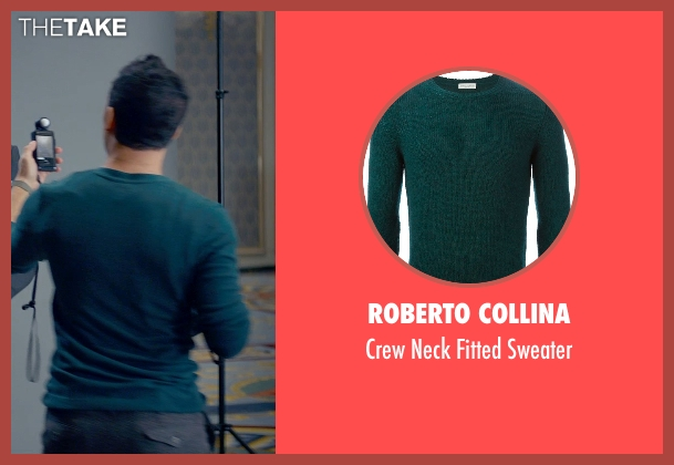 Roberto Collina green sweater from Fifty Shades of Grey seen with Victor Rasuk (José Rodriguez)