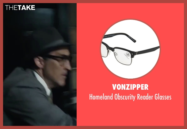 VonZipper black glasses from Bridge of Spies seen with Victor Verhaeghe (Agent Gamber)