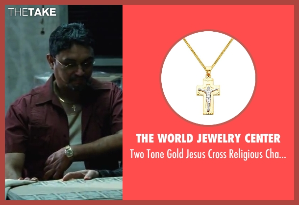 The World Jewelry Center necklace from Contraband seen with Viktor Hernandez (Edwin)