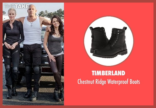 Timberland black boots from The Fate of the Furious seen with Vin Diesel (Dominic Toretto)