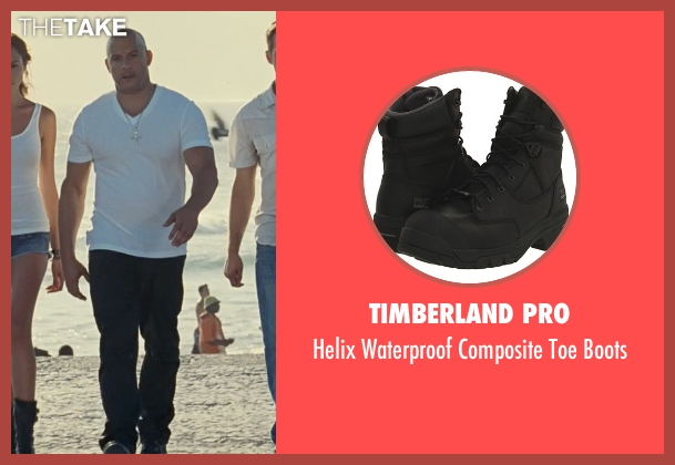 Timberland Pro black boots from Fast Five seen with Vin Diesel (Dominic Toretto)