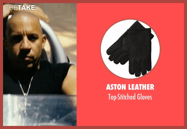 Aston Leather black gloves from Fast Five seen with Vin Diesel (Dominic Toretto)