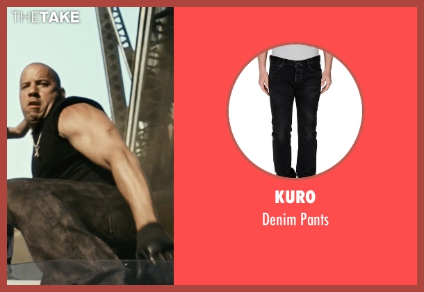 Kuro black pants from Fast Five seen with Vin Diesel (Dominic Toretto)