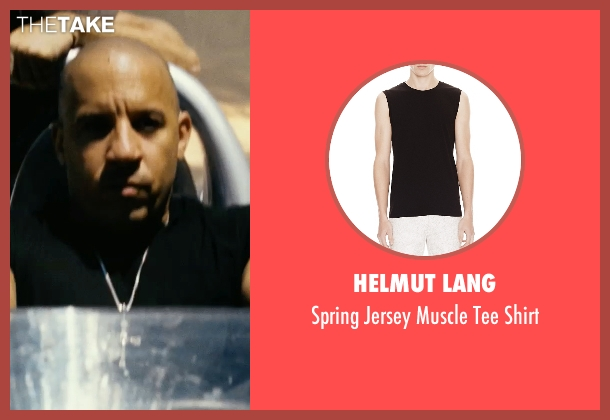 Helmut Lang black shirt from Fast Five seen with Vin Diesel (Dominic Toretto)