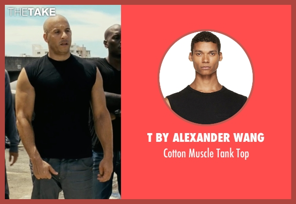 T By Alexander Wang black top from Fast Five seen with Vin Diesel (Dominic Toretto)