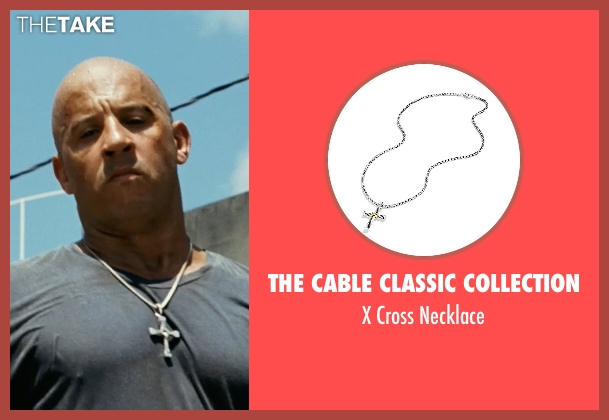 The Cable Classic Collection silver necklace from Fast Five seen with Vin Diesel (Dominic Toretto)