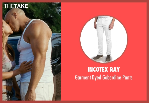 Incotex Ray white pants from Fast Five seen with Vin Diesel (Dominic Toretto)