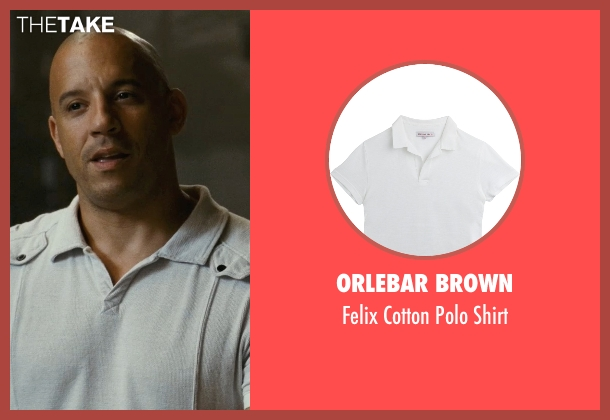 Orlebar Brown white shirt from Fast Five seen with Vin Diesel (Dominic Toretto)