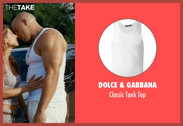 Dolce & Gabbana white top from Fast Five seen with Vin Diesel (Dominic Toretto)