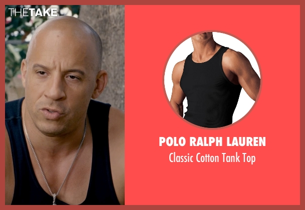Polo Ralph Lauren black top from Fast & Furious 6 seen with Vin Diesel (Dominic Toretto)