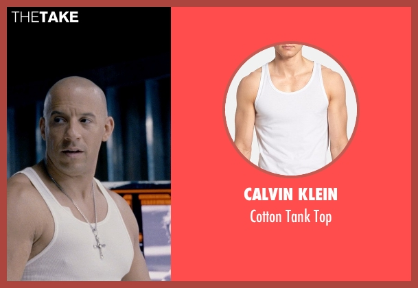 Calvin Klein white top from Fast & Furious 6 seen with Vin Diesel (Dominic Toretto)