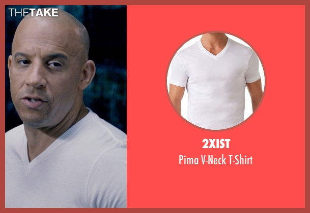 2xist white t-shirt from Fast & Furious 6 seen with Vin Diesel (Dominic Toretto)