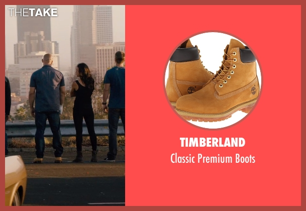 Timberland beige boots from Furious 7 seen with Vin Diesel (Dominic Toretto)