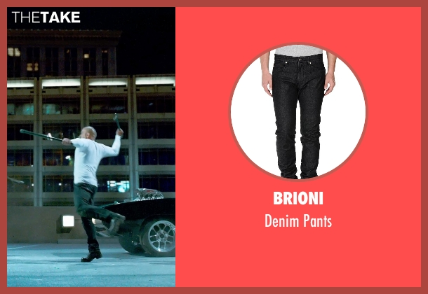 Brioni black pants from Furious 7 seen with Vin Diesel (Dominic Toretto)