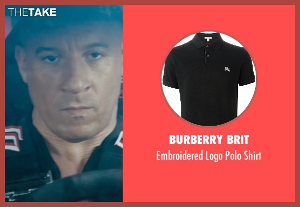 Burberry Brit black shirt from Furious 7 seen with Vin Diesel (Dominic Toretto)