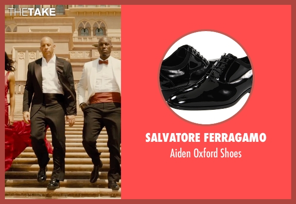 Salvatore Ferragamo black shoes from Furious 7 seen with Vin Diesel (Dominic Toretto)