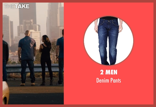 2 Men blue pants from Furious 7 seen with Vin Diesel (Dominic Toretto)