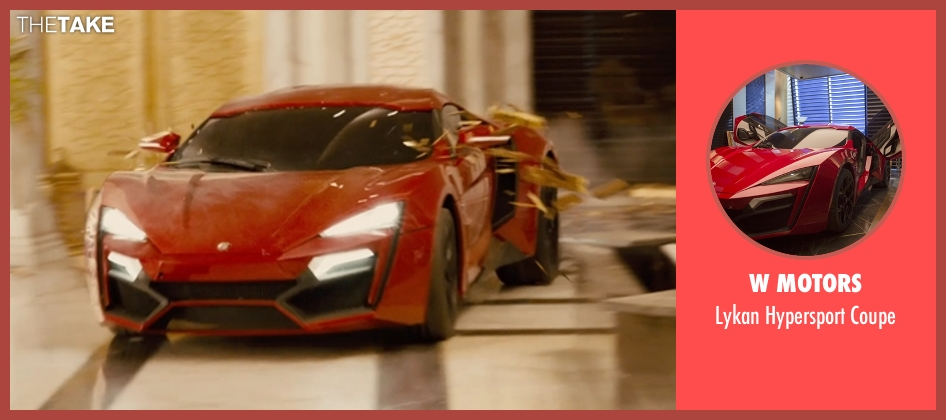W Motors coupe from Furious 7 seen with Vin Diesel (Dominic Toretto)