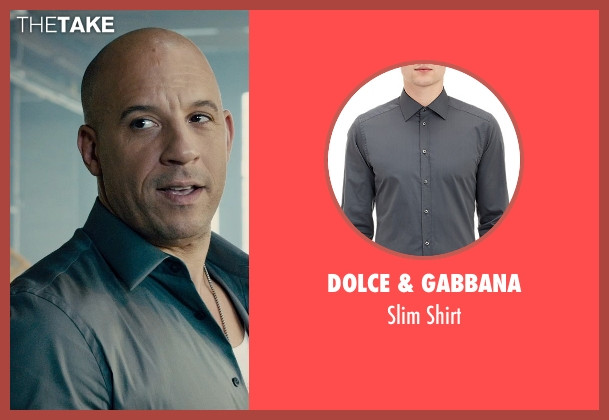 Dolce & Gabbana gray shirt from Furious 7 seen with Vin Diesel (Dominic Toretto)