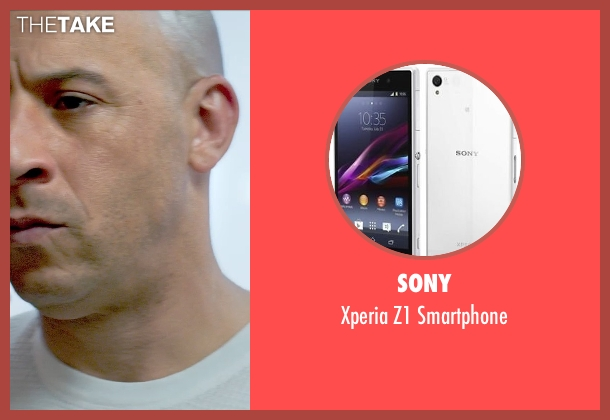 Sony smartphone from Furious 7 seen with Vin Diesel (Dominic Toretto)