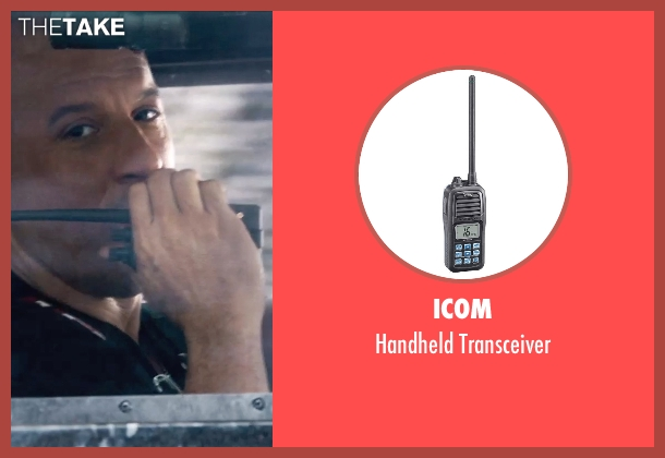 Icom transceiver from Furious 7 seen with Vin Diesel (Dominic Toretto)