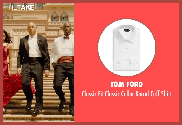 Tom Ford white shirt from Furious 7 seen with Vin Diesel (Dominic Toretto)