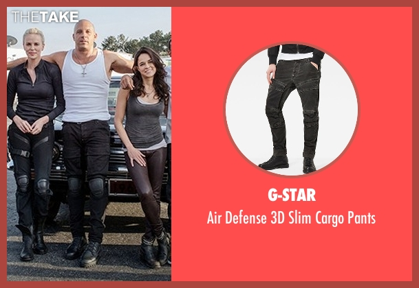G-Star black pants from The Fate of the Furious seen with Vin Diesel (Dominic Toretto)