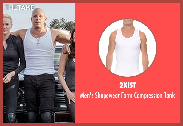2Xist white tank from The Fate of the Furious seen with Vin Diesel (Dominic Toretto)