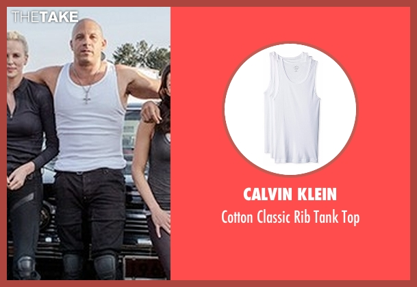 Calvin Klein white top from The Fate of the Furious seen with Vin Diesel (Dominic Toretto)