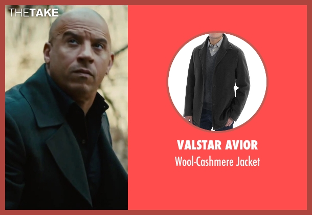 Saks Fifth Avenue Collection black coat from The Last Witch Hunter seen with Vin Diesel (Kaulder)