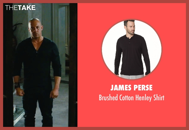 James Perse black shirt from The Last Witch Hunter seen with Vin Diesel (Kaulder)