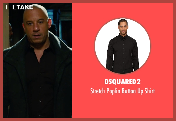 Dsquared2 black shirt from The Last Witch Hunter seen with Vin Diesel (Kaulder)