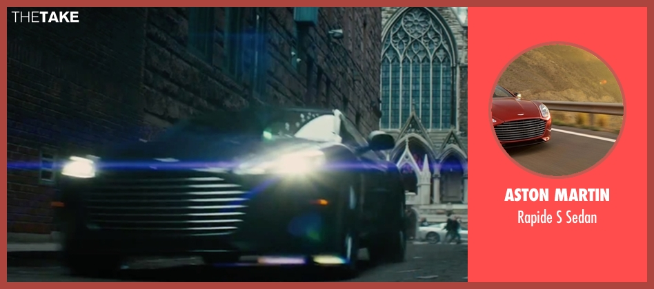 Aston Martin sedan from The Last Witch Hunter seen with Vin Diesel (Kaulder)