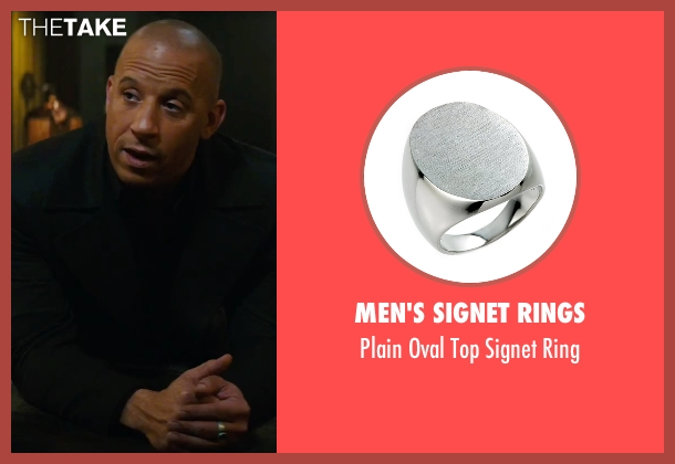 Men's Signet Rings silver ring from The Last Witch Hunter seen with Vin Diesel (Kaulder)