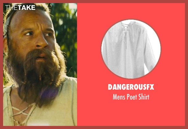 DangerousFX white shirt from The Last Witch Hunter seen with Vin Diesel (Kaulder)