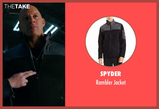Spyder black jacket from xXx: Return of Xander Cage seen with Vin Diesel (Xander Cage)