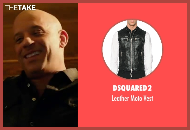 Dsquared2  black vest from xXx: Return of Xander Cage seen with Vin Diesel (Xander Cage)