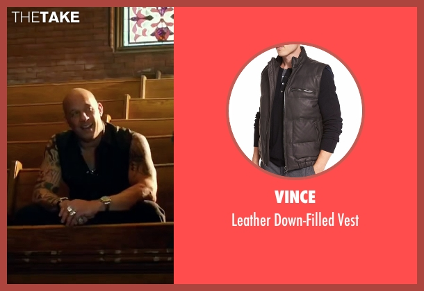 Vince black vest from xXx: Return of Xander Cage seen with Vin Diesel (Xander Cage)