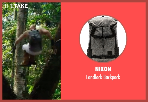 Nixon gray backpack from xXx: Return of Xander Cage seen with Vin Diesel (Xander Cage)