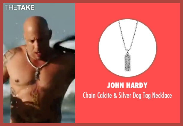 King Baby Studio  silver necklace from xXx: Return of Xander Cage seen with Vin Diesel (Xander Cage)