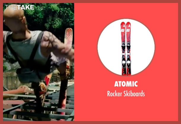 Atomic  skiboards from xXx: Return of Xander Cage seen with Vin Diesel (Xander Cage)