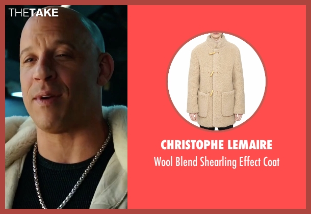 Christophe Lemaire beige coat from xXx: Return of Xander Cage seen with Vin Diesel (Xander Cage)