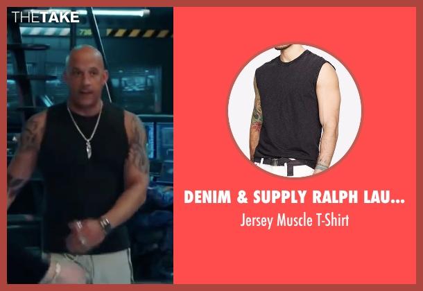 Denim & Supply Ralph Lauren black t-shirt from xXx: Return of Xander Cage seen with Vin Diesel (Xander Cage)