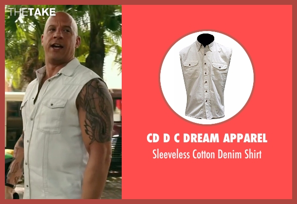 CD D C Dream Apparel white shirt from xXx: Return of Xander Cage seen with Vin Diesel (Xander Cage)