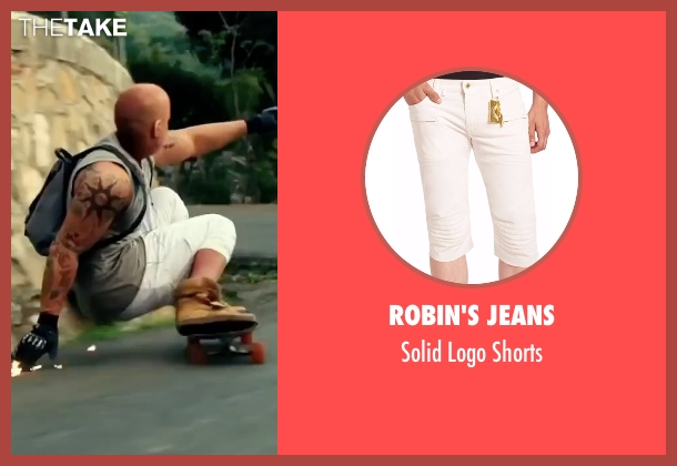 Robin's Jeans white shorts from xXx: Return of Xander Cage seen with Vin Diesel (Xander Cage)
