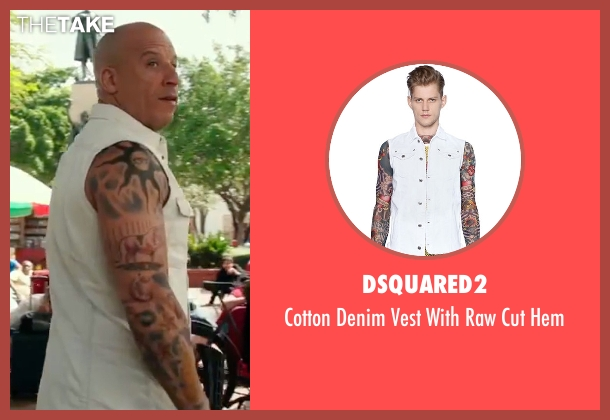 Dsquared2   white hem from xXx: Return of Xander Cage seen with Vin Diesel (Xander Cage)